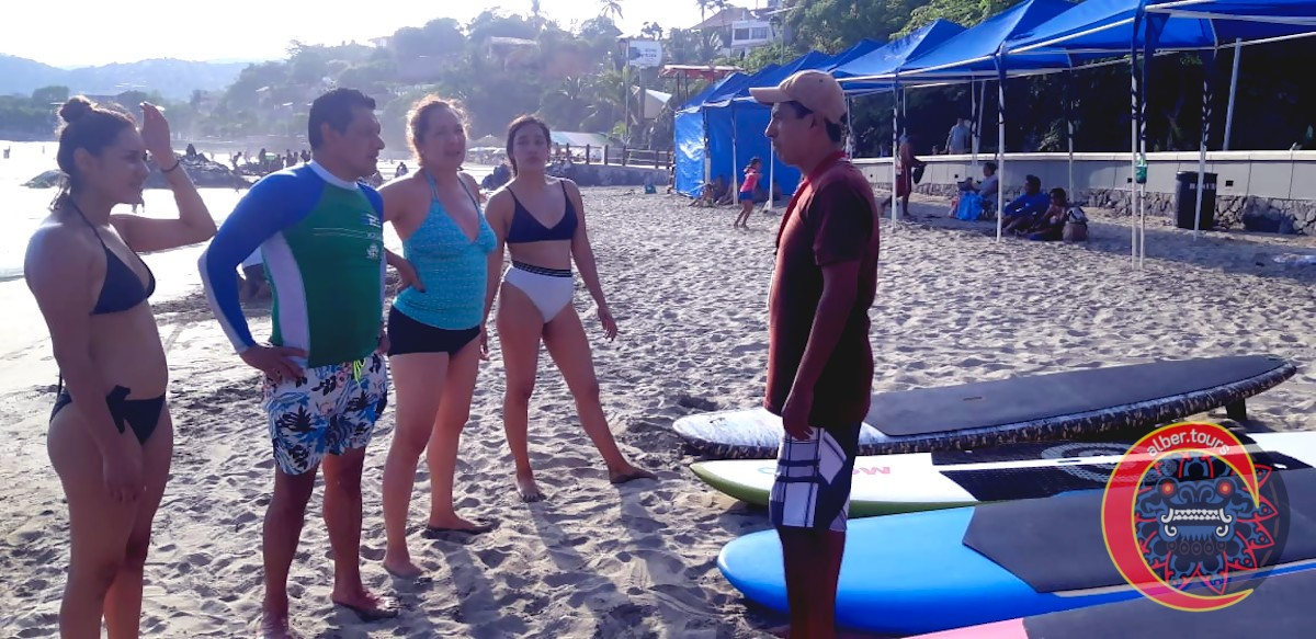 Instrucción de paddle surf  en Playa la Madera