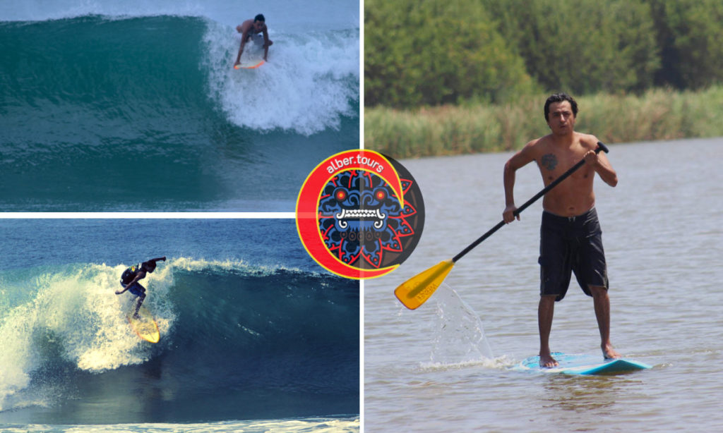 alber.tours guide-tourists surf in Ticla Michoacán and Puerto Vicente Gro.