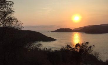 sunset las gatas beach
